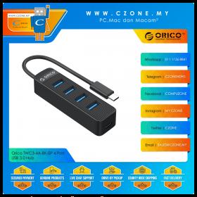 Orico TWC3-4A-BK-EP 4 Port USB 3.0 Hub (Black)