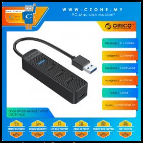 Orico TWU32-4A-BK-EP 4 Port USB 3.0 Hub (Black)