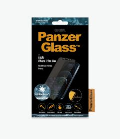 PanzerGlass Privacy Case Friendly Tempered Glass iPhone 12 Series Black