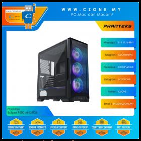 Phanteks Eclipse P500 Air DRGB Computer Case (EATX, TG, Digital RGB, Satin Black)