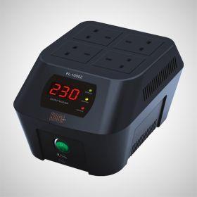 Power Logic Koss PL-800Z AVR (800VA, 4x UK Sockets, Surge Protection)