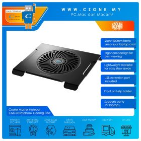 """Cooler Master Notepal CMC3 Notebook Cooling Pad (Up to 15"""")"""
