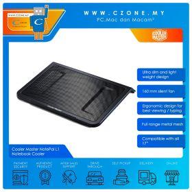 """Cooler Master NotePal L1 Notebook Cooler (Up to 17"""", Black)"""