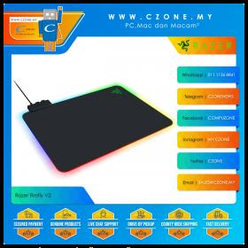Razer Firefly V2 Hard Surface Gaming Mouse Pad (RGB, Hard, Medium, 355 x 280 x 8 mm)