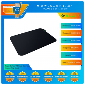 Razer Sphex V3 Hard Gaming Mouse Mat (Hard, Small, 270 x 215 x 0.4 mm)