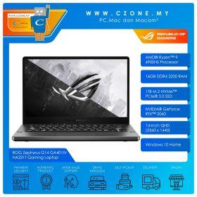 "Asus ROG Zephyrus G14 GA401IV HA231T Gaming Laptop - 14"", R9-4900HS, 3.0GHz, 16GB, 1TB SSD, RTX2060, Win 10 (AniMe Matrix, Eclipse Grey)"