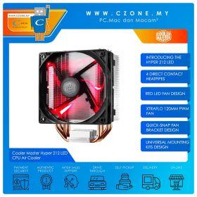 Cooler Master Hyper 212 LED CPU Air Cooler (AMD, Intel, 1x 120mm Fan, Red LED)