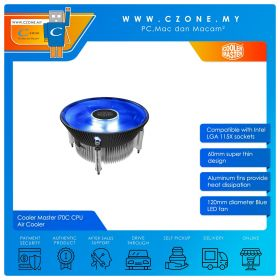 Cooler Master I70C CPU Air Cooler (Intel LGA 115x, 1x 120mm Fan)