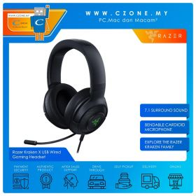 Razer Kraken X USB Wired Gaming Headset