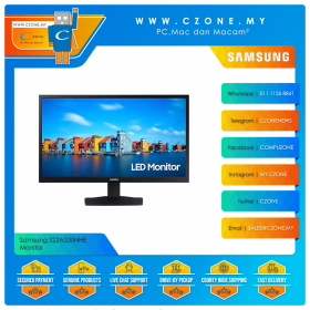 "Samsung S22A330NHE Monitor (21.5"", 1920x1080, VA, 60Hz, 6.5ms, D-Sub, HDMI, VESA)"