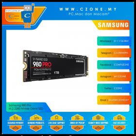 Samsung 980 Pro 250GB / 500GB M.2 2280 NVMe Gen4 SSD (R: 6900Mbps, W: 5000Mbps)