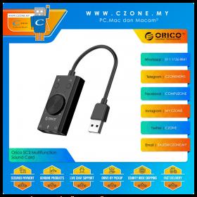 Orico SC2 Multifunction Sound Card (USB, External, 2.1 Ch)