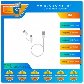 Mi 2-in-1 USB & Micro-USB to USB-C Cable (1M)