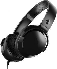 Skullcandy Riff On-Ear Wired Headphones (Black/Black)