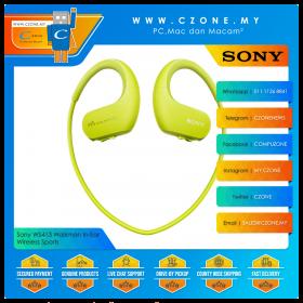Sony WS413 Walkman In-Ear Wireless Sports Headphones (Green)