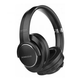 SonicGear Airphone ANC 3000 Noise Cancelling Over-Ear Wireless Headphones (Black/Silver)  (8886411938796)