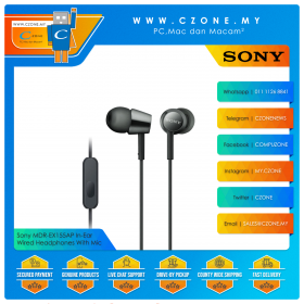 Sony MDR-EX155AP In-Ear Wired Headphones With Mic