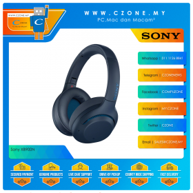Sony XB900N Noise Cancelling Over-Ear Wireless Headphones (Blue)