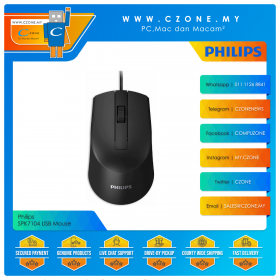 Philips SPK7104 USB Mouse (Black)