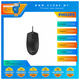 Philips SPK7204 Wired Mouse (Black)