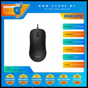 Philips SPK7214 USB Mouse (Black)