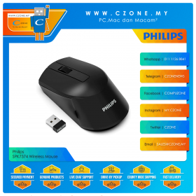 Philips SPK7374 Wireless Mouse (Black)
