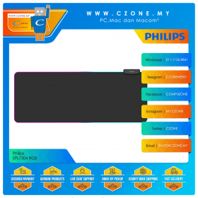 Philips SPL7304 RGB Gaming Mouse Pad (Soft, Extended, 800 x 320 x 4 mm)