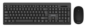 Philips SPT6324 Wireless Keyboard And Mouse (Black)
