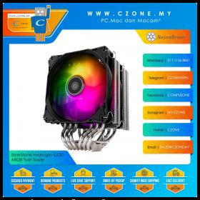 SilverStone Hydrogon D120 ARGB Twin Tower CPU Air Cooler (AMD, Intel, 2x 120mm Fan, )