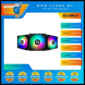 Lian Li ST120 RGB Case Fan (3x 120mm, 4-pin, ARGB, Black)