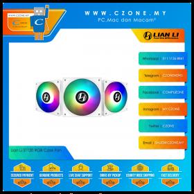 Lian Li ST120 RGB Case Fan (3x 120mm, 4-pin, ARGB, White)