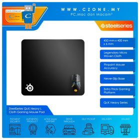 SteelSeries QcK Heavy L Cloth Gaming Mouse Pad (Soft, Large, 450 x 400 x 2 mm)