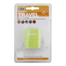 Ross T21M-YE Traveller Universal Adaptor (Green)