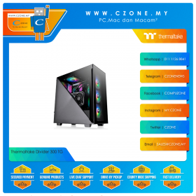 Thermaltake Divider 300 TG Computer Case (ATX, ARGB, TG, Black)