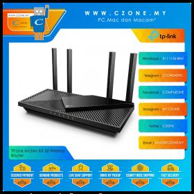 TP-Link Archer AX 55 Wireless Router (WiFi6-AX3000, OneMesh, Gigabit, Black)