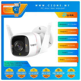 TP-Link Tapo C320WS Outdoor Security Wi-Fi Camera (4MP, WiFi-N, Two-Way Audio, Night Vision, Sound and Light Alarm, MicroSD Up to 256GB)