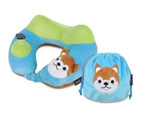 Travelmall Kid's Inflatable Neck Pillow (Shiba Inu Edition)