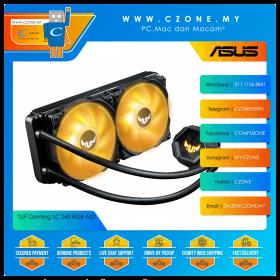 TUF Gaming LC 240 RGB AIO Liquid CPU Cooler (AMD, Intel, 2x 120mm Fan, ARGB, Black)
