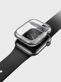 Uniq Garde Hybrid Case Protection (Apple Watch 44mm, Smoked/Tinted Grey)