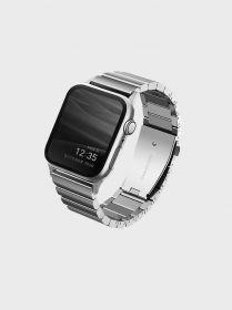 Uniq Strova Steel Link Watch Band (Apple Watch 42/44mm, Sterling Silver)