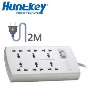 Huntkey SZM601 6 Power Extension (6x Universal Sockets, 2M)