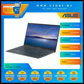 """Asus ZenBook 14 UX425EA KI435TS Laptop - 14"""", i7-1165G7, 2.8GHz, 8GB, 512GB SSD, Iris XE, Win 10, Office H&S (Pine Grey)"""