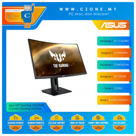 "Asus TUF Gaming VG27WQ Curved Gaming Monitor (27"", 2560x1440, VA, 165Hz, 1ms, HDMI x2, DP, Speaker, VESA)"