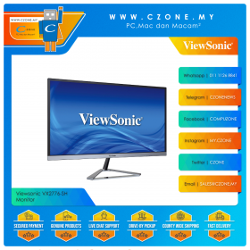 "Viewsonic VX2776-SH Monitor (27"", 1920x1080, IPS, 75Hz, 4ms, D-Sub, HDMIx2, VESA)"