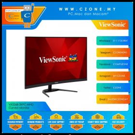 "Viewsonic VX3268-2KPC-MHD Curved Monitor (31.5"", 2560x1440, MVA, 144Hz, 1ms, HDMIx2, DP, SPK, VESA)"