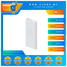 Xiaomi WPB15ZM 10000mAh Wireless Power Bank (White)