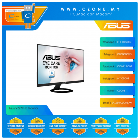 """Asus VZ279HE Monitor (27"""", 1920x1080, IPS, 75Hz, 1ms, D-Sub, HDMI, VESA)"""