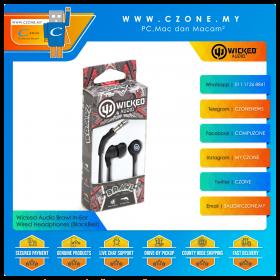 Wicked Audio Brawl In-Ear Wired Headphones (BlackBelt)(Clearance, 6-Months Warranty)