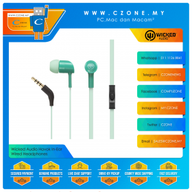 Wicked Audio Havok In-Ear Wired Headphones (Clearance, 6-Months Warranty)