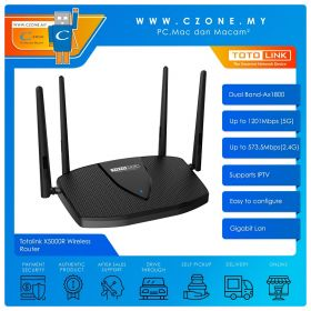 Totolink X5000R Wireless Router (Dual Band-Ax1800, Gigabit)